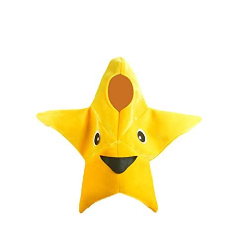 Obelunrp Little Starfish Traje Dibujos Animados de Estrella de Estrella de mar Traje de la Etapa de los nios Ropa de Estrella de mar para nios Disfraz de Halloween 1 Set Navidad Decoraciones de