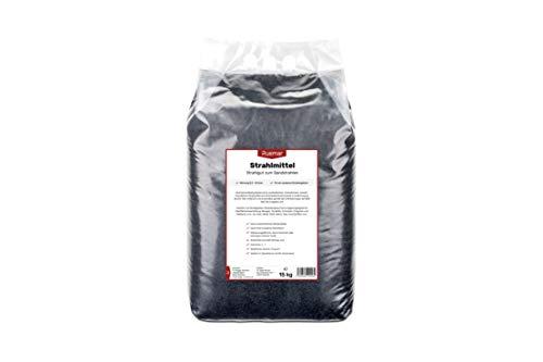 Ruemar Strahlmittel Strahlgut zum Sandstrahlen aus Aluminiumsilikat-Schlacke | 15 kg Sandstrahl Sand mit 0,2-0,5 mm Körnung | Für Druckluft Sandstrahlpistole