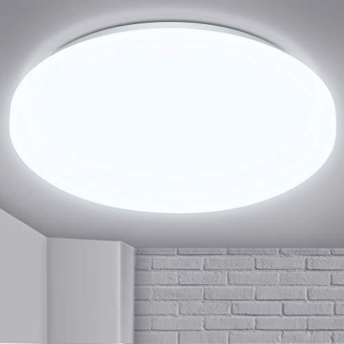 LED Lámpara de Techo, Fulighture 15w Moderna Plafón Led de Techo Redonda 1200LM, Equivalente a 120W Lámpara Incandescente Lámpara, para Sala de Estar Comedor Balcón, 6500K Blanco Frío(NO Reguable)