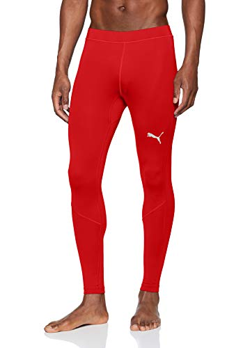 PUMA Liga Baselayer Long Tight Pants, Hombre, Red, L