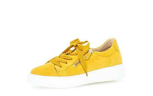 Gabor Damen Sneaker, Frauen Low-Top Sneaker,Best Fitting,Reißverschluss,Optifit- Wechselfußbett, Plateau-Sohle weibliche Ladies,Sun,43 EU / 9 UK