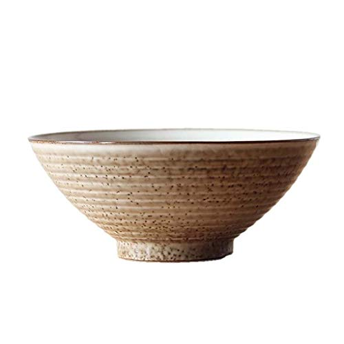 HJXSXHZ366 Keramikschale Kreative japanische Messing Schüssel, Persönlichkeit Rindfleisch Ramen Schüssel, Haushalt Nudelschüssel, Vintage Suppenschüssel, Keramikschale (Color : A Set of 4)