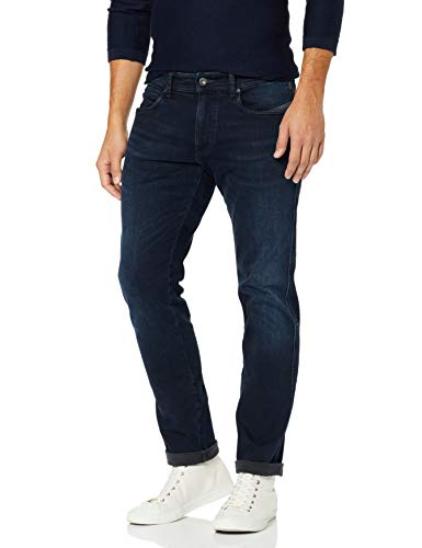 Camel Active Herren 5-POCKET MADISON Straight Jeans, Dark Blue Used 46, 36W / 32L(Herstellergröße: 36)
