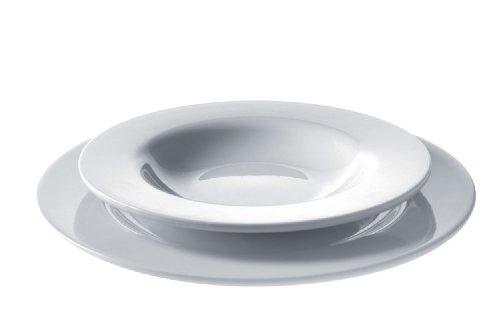 Alessi Ajm28s5 Platebowlcup Set D'assiettes 5 Pièces en Porcelaine Blanche