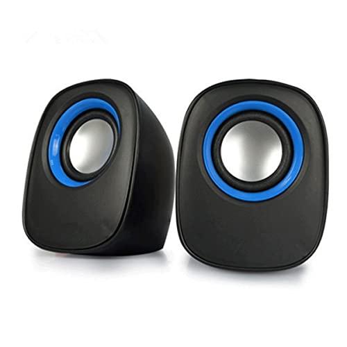 TYGH Altavoces PC, Entrada Audio 3.5 Mm Altavoz Ordenador Sobremesa USB con Estéreo De Doble Canal Multimedia For Portátil Tablete Móvil (Color : Black Blue)