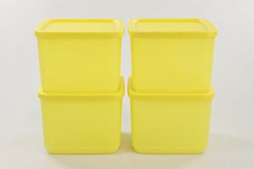 TUPPERWARE 4x 1,0L Geburtstagskracher Frischebehälter gelb 27616