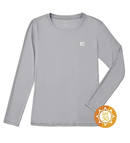 FORENJOY Sonnen-Shirts für Jugendliche, Jungen, LSF 50+, langärmelig, mit Kapuze, Rashguard, schnelltrocknend, Sonnenschutz, Schwimm-T-Shirt - - XL