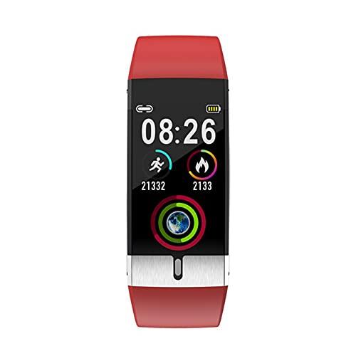 Pulsera inteligente de seguimiento de actividad física con pantalla a color, reloj inteligente de salud compatible con Android iOS (rojo)