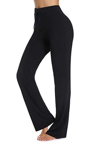 FITTOO Pantaloni Flare Donna Yoga Pants Leggins Sportivi Collant Fitness Gym, Nero, S