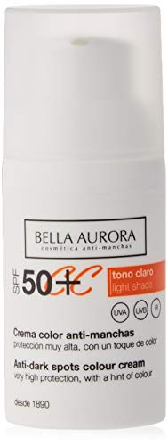 Bella Aurora Crema Facial SPF 50+ Anti-Manchas - 30 ml.
