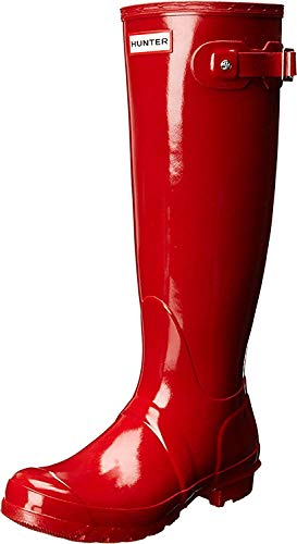 HUNTER Damen ORIGINAL Tall Gloss Gummistiefel, Rot (Military Red), 37 EU