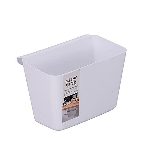 Cubo de basura Gancho para cubo de basura Cubo de basura de cocina integrado Cubo de basura para el hogar Puerta del gabinete de cocina Colgante de basura Cubo de,Blanco