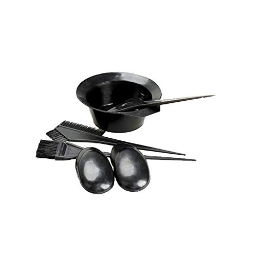 5 pièces/Set Black Hair Dye Kit Brosses coiffure Bowl Combo Set Couleur des cheveux Salon Dye Tint Outil bricolage Kit