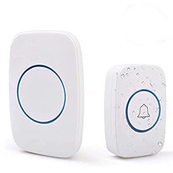 zhenxing Wireless Doorbell Waterproof Door Bell Kit with 1 Plug-in Receiver and 1 Push Button Transmitter Battery Included  Operating at 500Feet Adjustable Volume 48 Chimes
