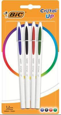 Lote de 4bolígrafos cristal Up–BIC–4colores