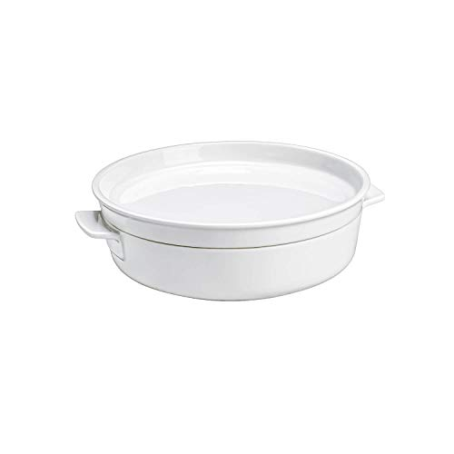 Clever Cooking Round Baking Dish with Lid by Villeroy & Boch - Premium Porcelain Baking Dish - Made in Germany - Dishwasher and Microwave Safe - 9.5 Inches