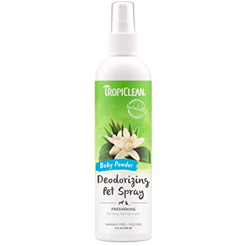 TropiClean Baby Powder Deodorizing Spray for Pets,...