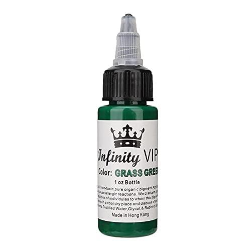 Encre de tatouage, Kit de pigments de tatouage 30 ml/bouteille, Pigment de maquillage pour le corps semi-pernament de longue durée[vert]