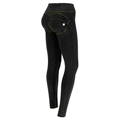 Freddy Damen Wrup1hj01e, Schwarz (Jeans Nero/Cuciture Grigie J7g), 32 (Herstellergröße: X-Small)