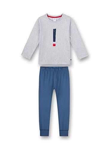 Sanetta Jungen Schlafanzug kurz grau Pyjamaset, hellgrau Melange, 116