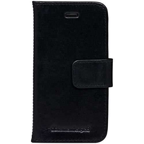 dbramante1928 - Copenhagen Hülle für iPhone SE/5s/5 - Klapphülle aus robustem, hochwertigem Leder - Mit Kartenfach und Standfunktion - Schwarz