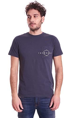 Trussardi Jeans T-Shirt Pure Cotton Regular Fi, Grigio (Whale E190), Small (Taglia Produttore:S) Uomo