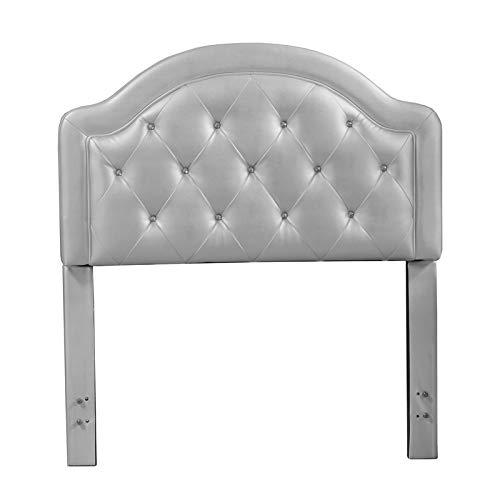Hillsdale Furniture Karley Faux Leather Silver Full Headboard