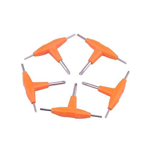 Preisvergleich Produktbild 5 Stück T-förmiger Schraubendreher Kreuzschraubendreher Innensechskantschlüssel für elektronische Zigaretten RDA RBA RTA Vape DIY Werkzeug