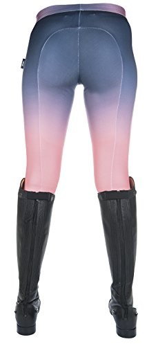 HKM Sports Equipment Bibi & Tina Reitleggings -Bibi&Tina- Silikon-Kniebesatz, Coral/Blau, 122/128