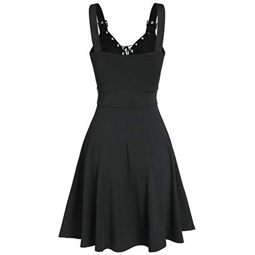 Dasongff - Minifalda gótica para mujer, estilo punk, color negro, con símbolo de brujería, estilo steampunk, estilo retro, para cosplay, carnaval, fiesta