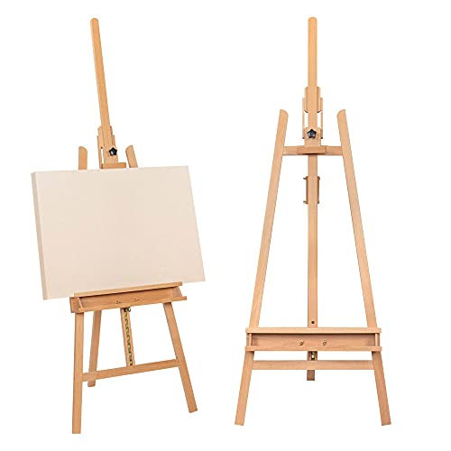 Art Storage Art Easel for Adults Painting Easel Easel Stand for Painting Portable Easel Painting Stand Forward Leaning Beech Easel