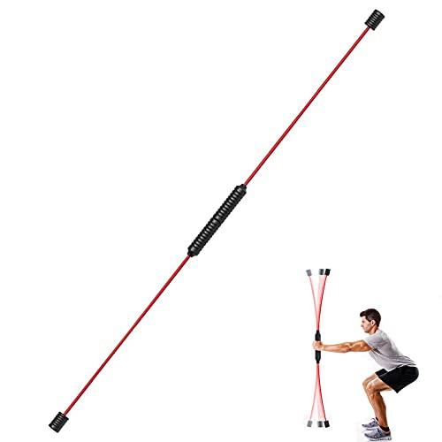 BMDHA Varilla de vibración de Brazo de Elasticidad de 160 CM, Varilla elástica Desmontable, Poste de Fitness, vibración de Cuerpo Completo, Swing Especial de Fitness Adecuado para Fitness