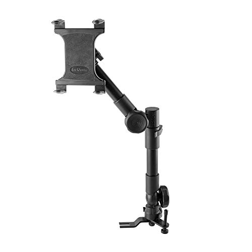 Heavy Duty Tablet Mount For Trucks - Impact Series by Tackform - Universal Vehicle Seat Rail Mount (20-24' Telescoping) Works With Most Vehicles with Accessible Floor Bolts