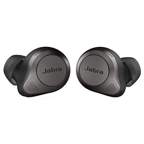 Jabra Elite 85t True Wireless Bluetooth Earbuds, Titanium Black – Advanced Noise-Cancelling Earbuds with Charging Case