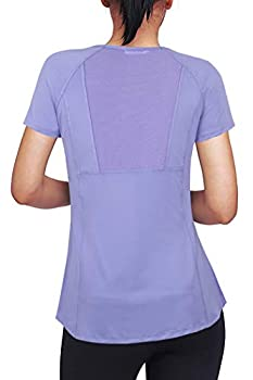 Helloacc Training Shirt for Women,Scoop Neck Summer Tops Layering Shirts Sport Outdoor Recreation Hiking Shirts Ladies Athletic Tops Dressy Blouse Spring Tops for Big and Girls Casual Tunic Violet M