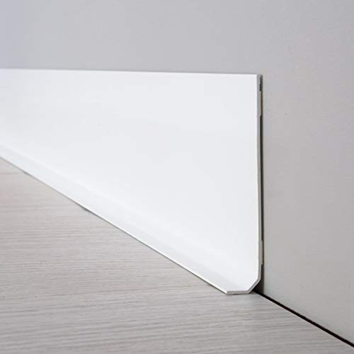 99deco rodapié PVC – Juego de 10 Blanca