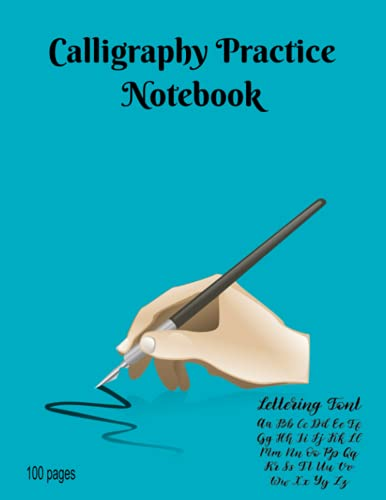 Calligraphy Practice Notebook: 100 pages