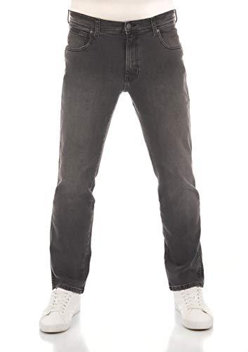 Wrangler Herren Jeans Texas Stretch Regular Fit Jeanshose Straight Denim Hose 99% Baumwolle Grau W30-W44, Größe:33W / 32L, Farbvariante:Super Grey (W121ht24g)
