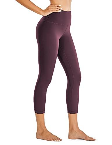 CRZ YOGA Mujer Deportivos Leggings Capri Pantalones Elastico para Yoga Pilates - 53cm Violeta Claro - 53cm 36 🔥