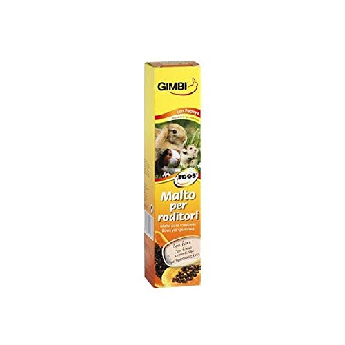 GIMBI Nager-Malt Paste - Gesunder Snack für Nagetiere mit Malz und Ballaststoffen unterstützt die Verdauung - 1 Tube (1 x 50 g)