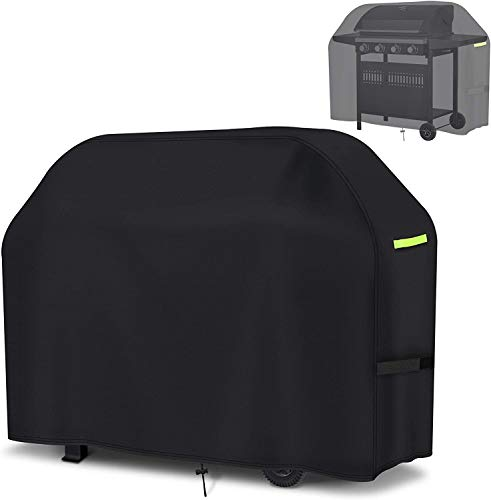 Grill Cover BBQ Cover 420D Oxford 145 x 61 x 117cm BBQ Protective Cover Hood, Waterproof, Windproof, UV-Resistant for Grill, Gas Grill, Char Broil, Weber, Jenn Air (145 x 61 x 117 (57 x 24 x 46 Zoll))