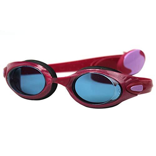Waterdichte zwembril die niet beslaat, speciaal voor vrouwen van Moda rood kersen