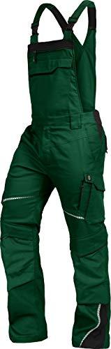 TRIUSO Leib Wächter Flex-Line Herren Latzhose flexibel mit Spandex (grün/schwarz, 56)