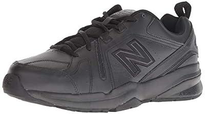 New Balance Men's 608 V5 Casual Comfort Cross Trainer, Black/Black, 11.5 W US
