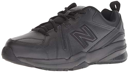Black Leather New Balance Shoes for Men