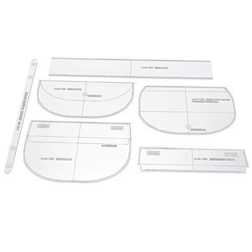 6 Stücke Acryl Schultertasche Muster Vorlage Schablone DIY Ledertaschen Handwerk Werkzeug