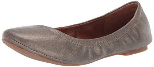 Lucky Brand Women's Emmie Ballet Flat, Pewter, 9 M US