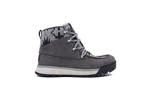 Pendleton Women's Torngat Trail Hiking Boot Wool and Waterproof Leather Gray/Spider Rock, 7