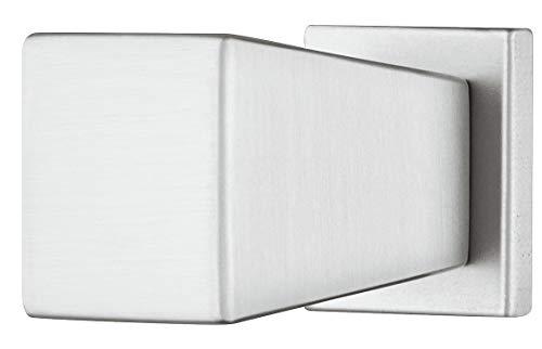 Gedotec - Pomello quadrato per mobili, in metallo, effetto acciaio INOX, per cassetti, 15 x 20 mm, con pomello per cassettiera, 1 pezzo, design per armadi da cucina e mobili
