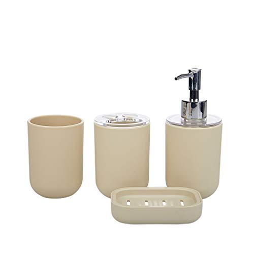 Dispensador de loción Un conjunto de dispensadores de jabón para el baño Copas de lavado de lavado de tazas de enjuague bucal Tazas de cepillo de dientes Tazas de jabón de jabón y macetas de loción Di